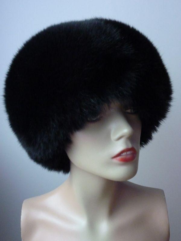 ... Kožešinová čepice - liška černá ... 6df1746fbc