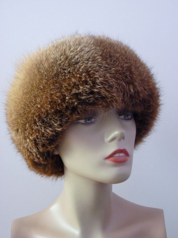 Kožešinová čepice - liška červená ... 0eea6a5885