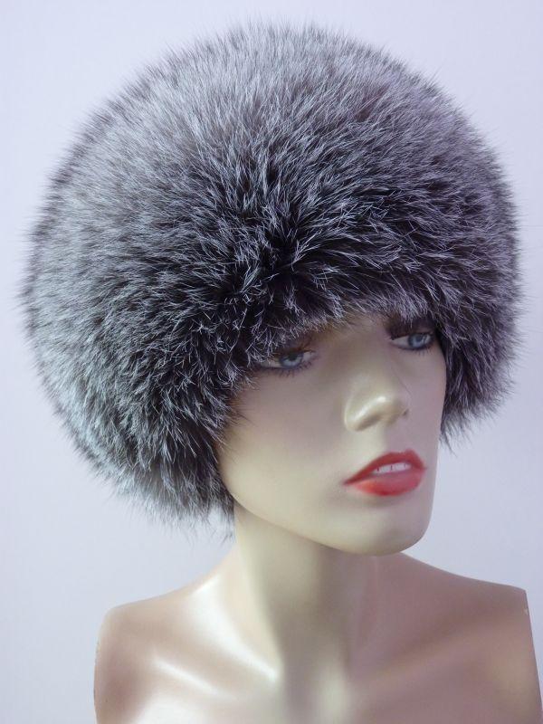 f2e54d0ae7c Kožešinová čepice - liška stříbrná blue frost ...
