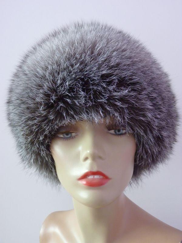 95a2bafb6da ... Kožešinová čepice - liška stříbrná blue frost ...
