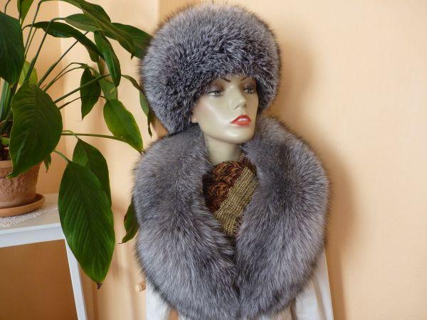 685bc0f381e ... Kožešinový set - liška stříbrná blue frost ...